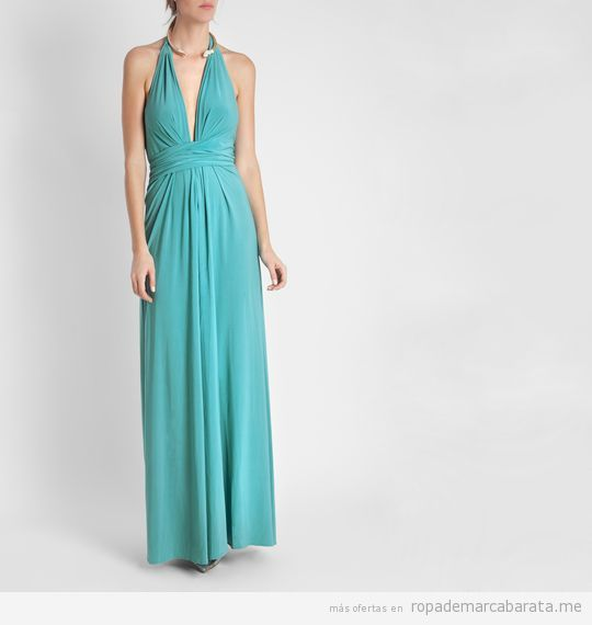 Vestido largo verde marca BDBA barato, outlet 2