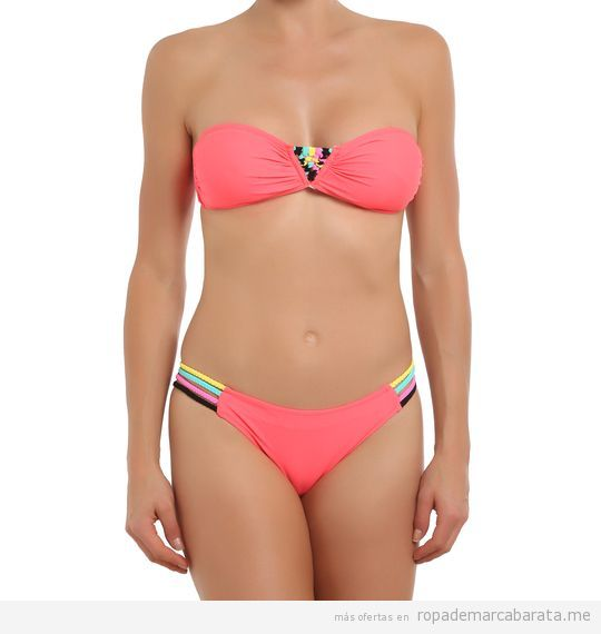 Bikini coral bandeu marca Sweet secret barato, outlet