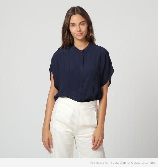 Blusa azul marca Angel Schlesser barata, outlet
