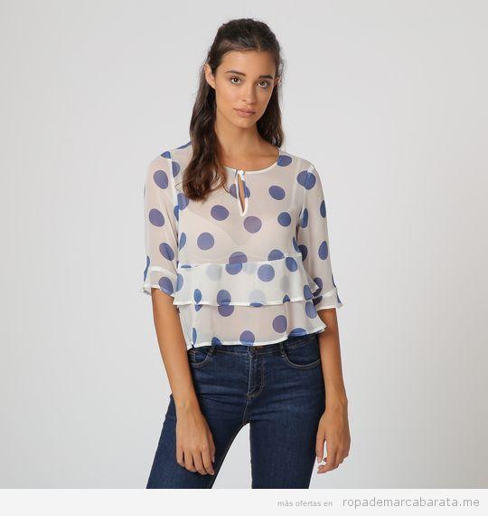 Blusa de lunares marca Sophie barata, outlet