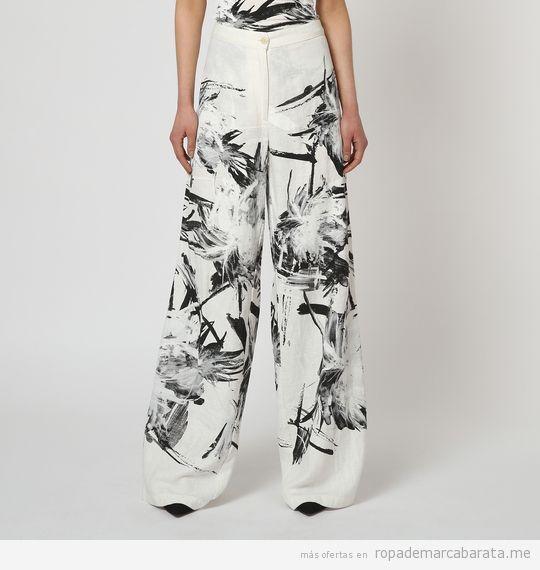 Pantalones anchos marca Isabel de Pedro de rebajas