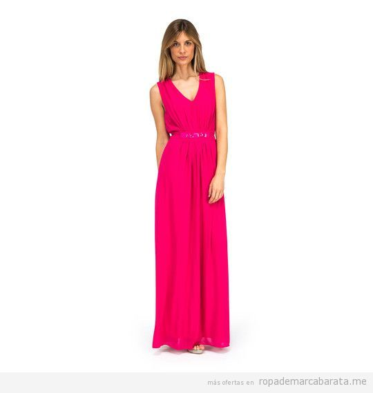 Maxi vestido marca Barbarella barato, outlet