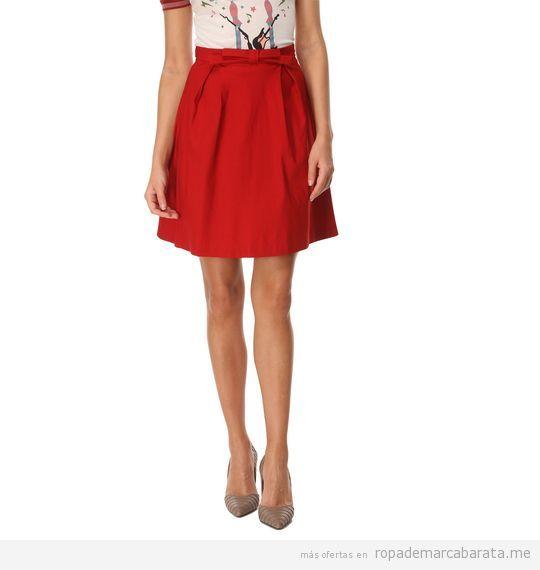 Falda roja marca Barbarella barata, outlet