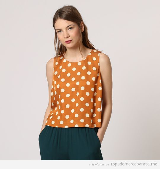 Top lunares marca Nice things barato, outlet