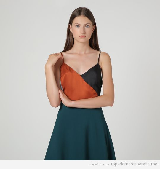 Top bicolor marca Nice things barato, outlet
