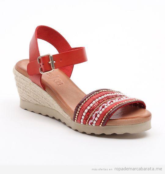 VISANZE Sandalias de cueroMarrónPlataforma: 3,5 cm