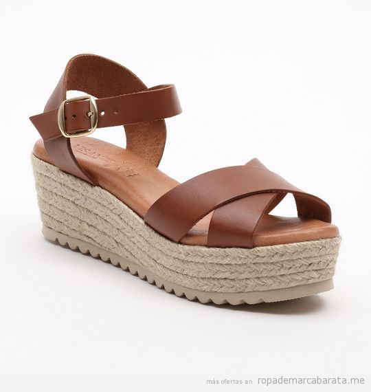 VISANZE Sandalias de cueroMarrón Y PlateadoPlataforma: 4 cm HhmrowO