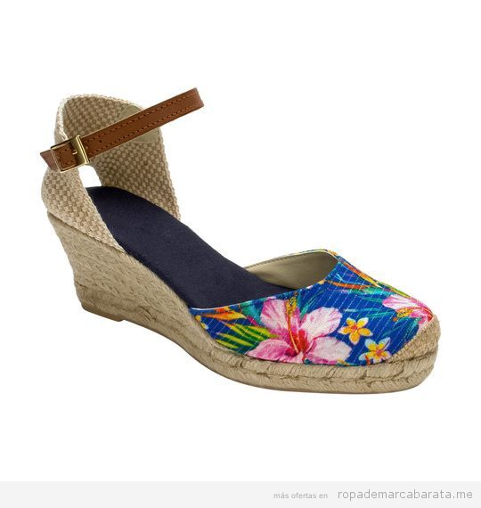 Sandalias cuña estampado flores marca Why Not baratas, outlet