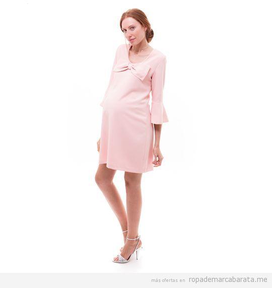 Vestido elegante premama marca Mit Mat Mamá barato, outlet