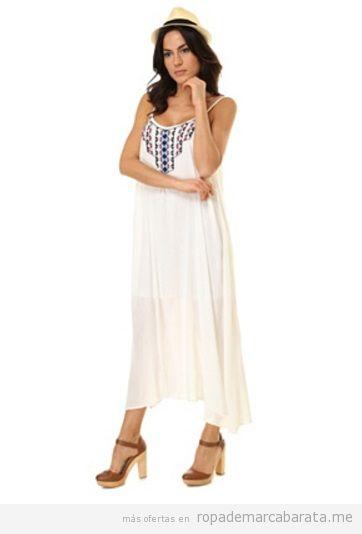 Vestidos largo bordado marca Anany La Morena barato, outlet