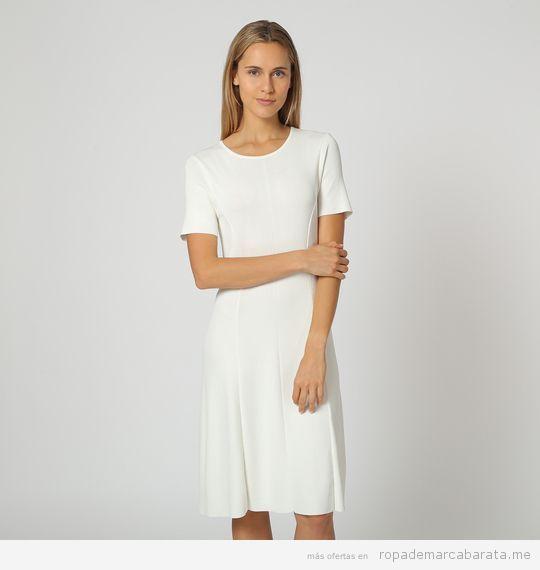 Vestido blanco marca Angel Schlesser barato, outlet