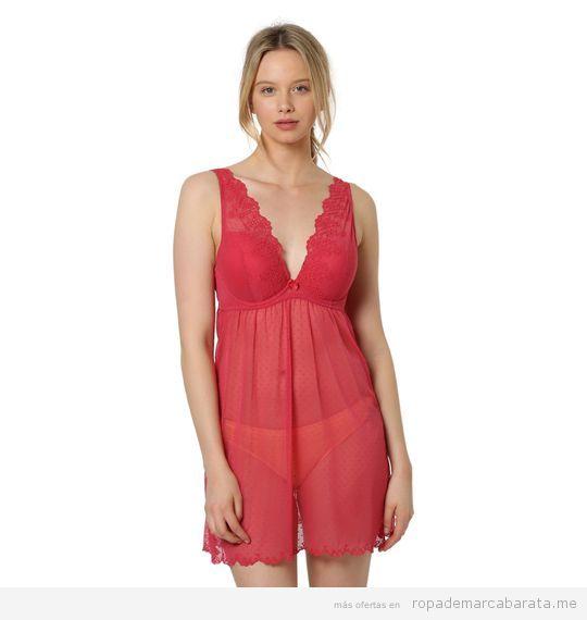 Camisón rojo marca Oysho barato, rebajas