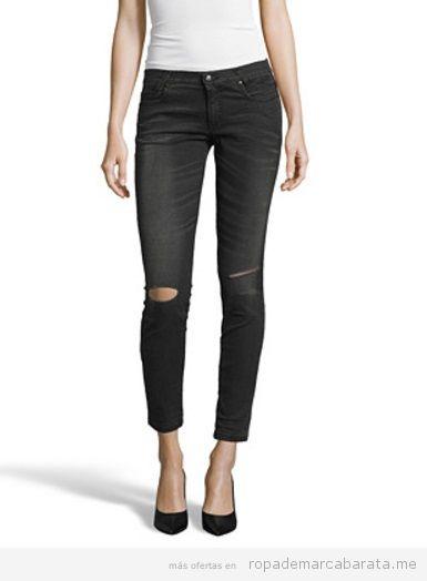 Pantalones vaqueros mujer marca Sisley baratos, outlet