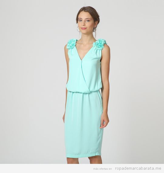 Vestido corto fiesta menta marca Rouss & Rouss barato, outlet