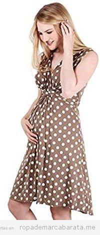 Vestido para embarazada de lunares