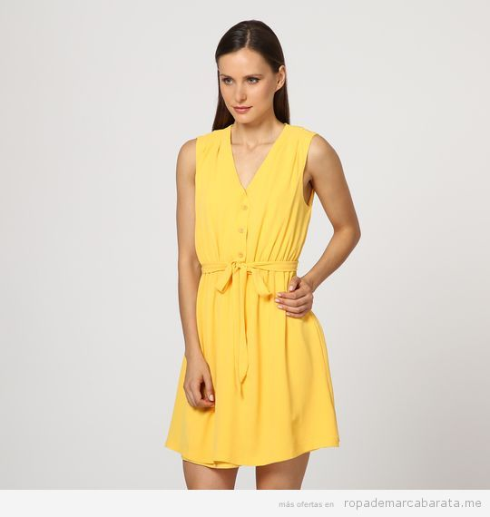 Vestido aarillo marca Lavand & Ginger + Soul barato, outlet