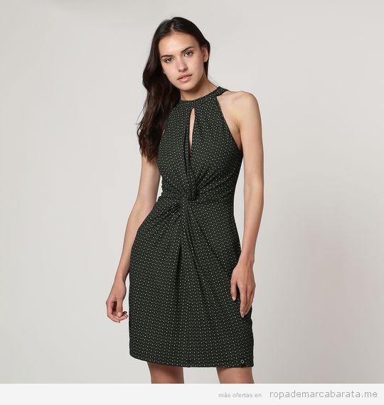 Vestido verde marca Zergatic barato, outlet