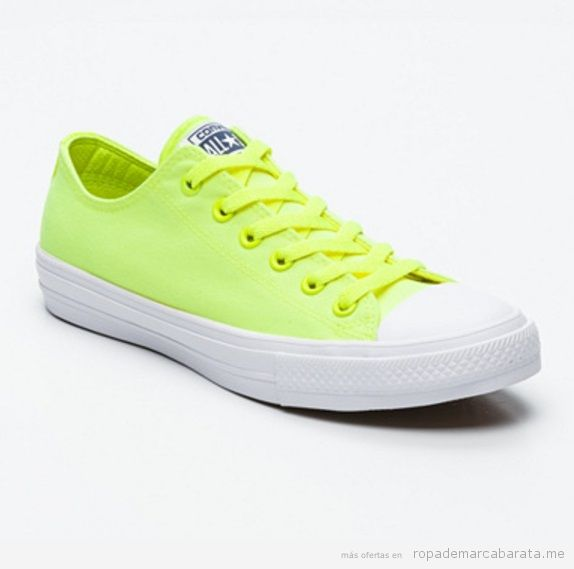 Zapatillas Converse All Star bajas color flúor baratas, outlet