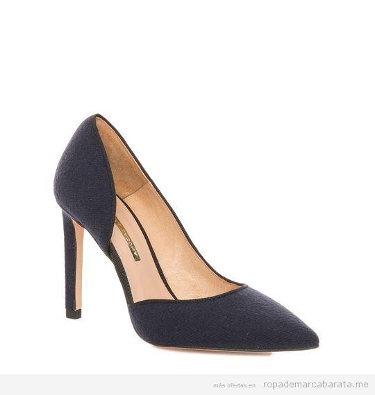 Zapatos tacón azul marca Hannibal Laguna baratos, outlet