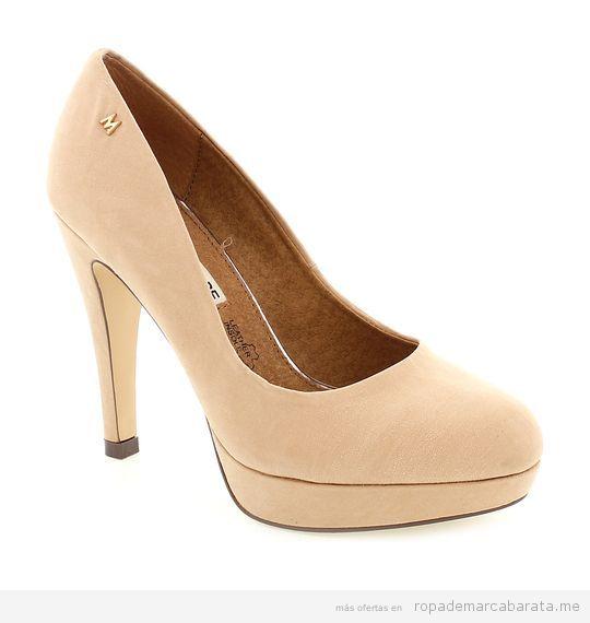 Zapatos tacón beige marca Maria Mare baratos, outlet