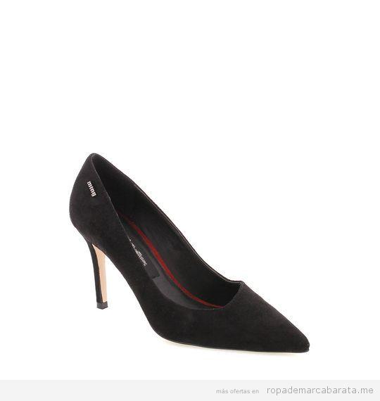 Zapatos tacón negros marca Mustang baratos, outlet