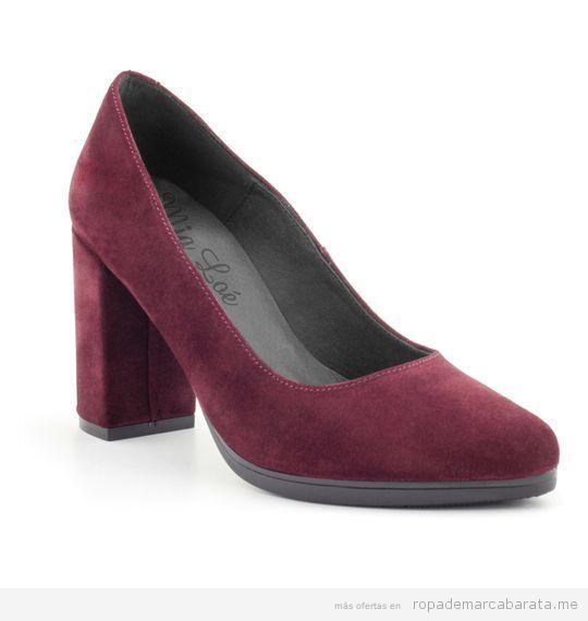 Zapatos ante tacón marca Mia Loé baratos, outlet