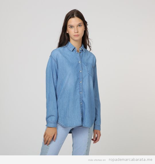 Camisa vaquera marca Pepe Jeans barata, outlet