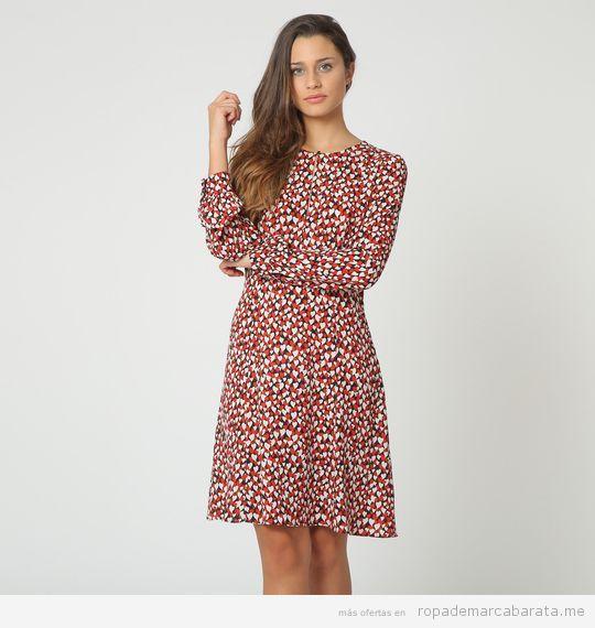 Vestido manga larga Jersey vintage mujer marca Montivi barato, outlet