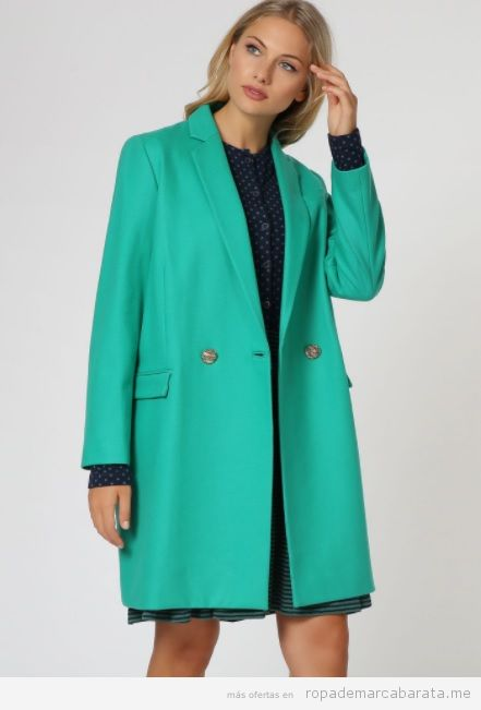 Abrigo turquesa marca Dolores Promesa barato, outlet