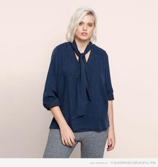 Blusas tallas grandes marca Violeta Mango baratas, outlet