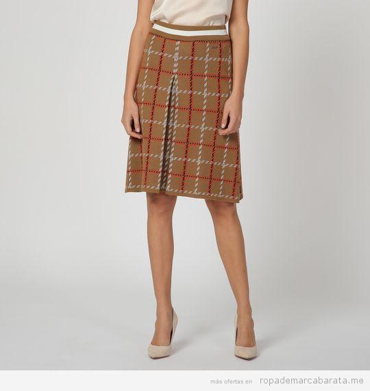 Falda cuadros marca Pertegaz barata, outlet