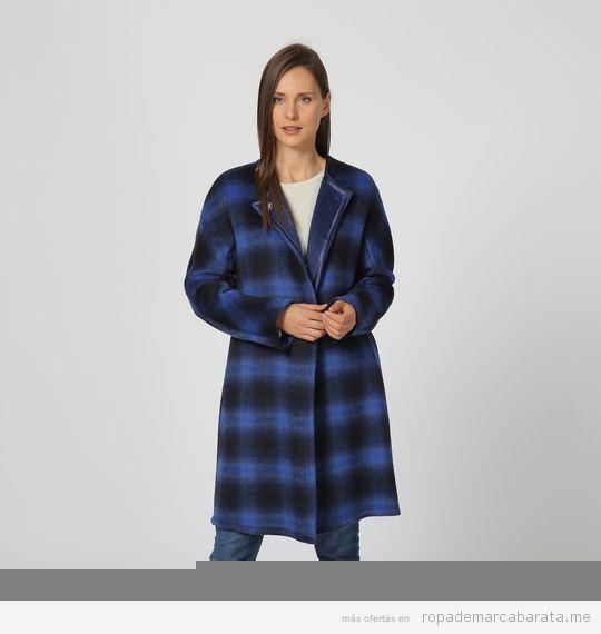 Abrigo cuadros marca Pertegaz barato, outlet