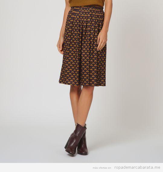 Falda estampada marca Trucco barata, outlet online