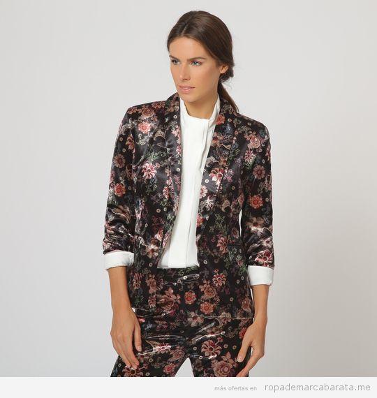 Traje chaqueta terciopelo marca Trucco barato, outlet online