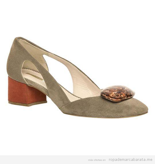 Zapato tacón bajo y ancho marca Hannibal Laguna baratos, outlet