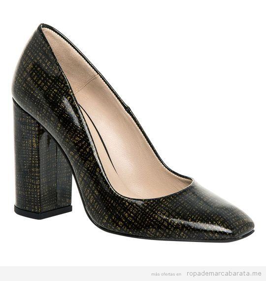 Zapato tacón alto y ancho marca Hannibal Laguna baratos, outlet