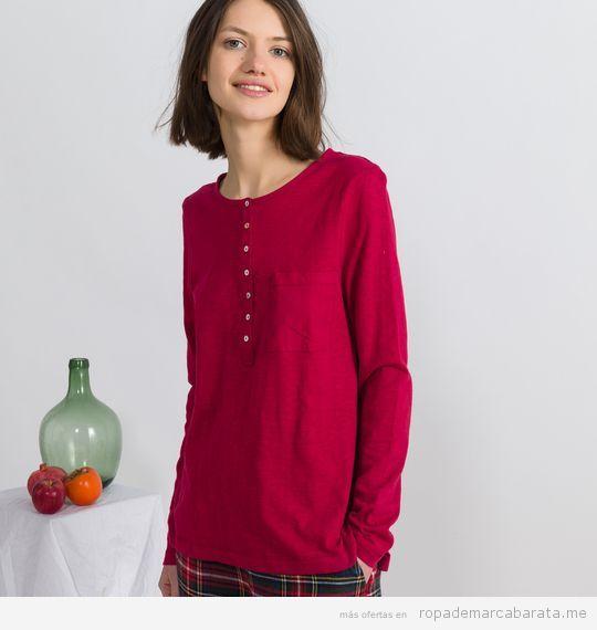 Pijama cuadros marca Oysho baratos, outlet