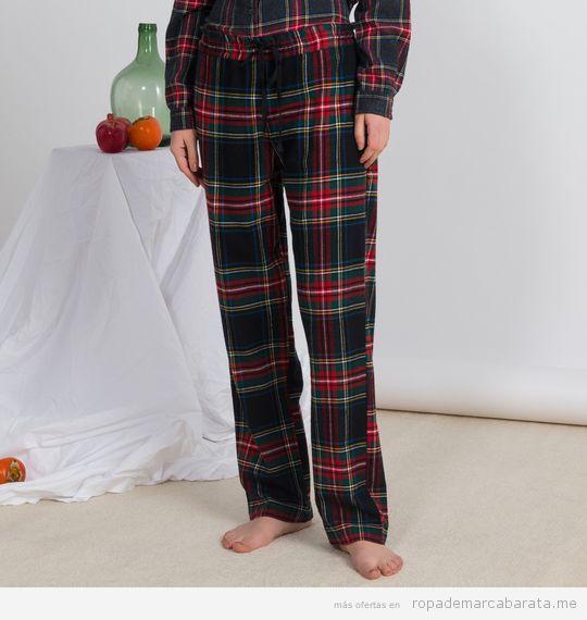 Pijama cuadros marca Oysho baratos, outlet 2
