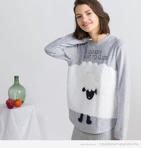 Pijama ovejas marca Oysho baratos, outlet