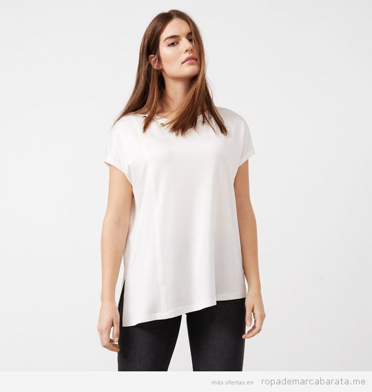 Ropa tallas grandes Violeta Mango, camiseta