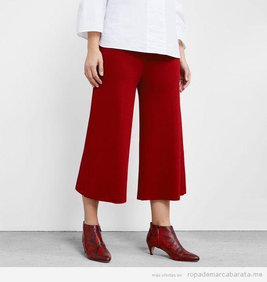 Ropa tallas grandes Violeta Mango, pantalones rojos