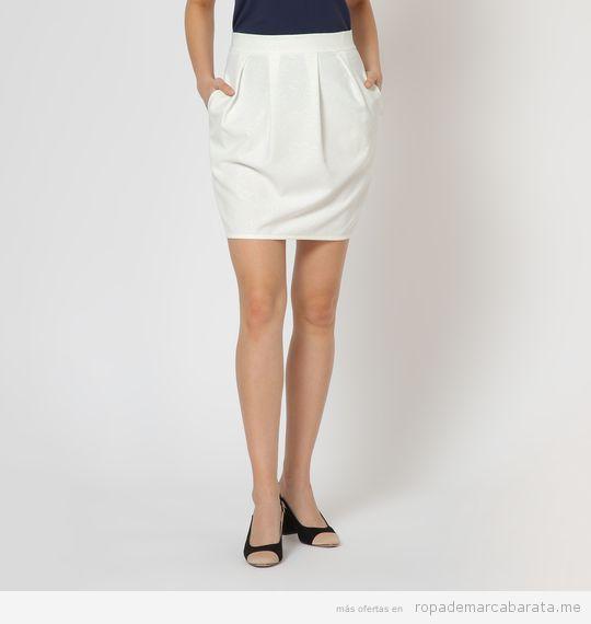 Falda blanca marca Amarillo Limón barata, outlet