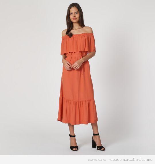 Vestido naranja marca Nice Things barato