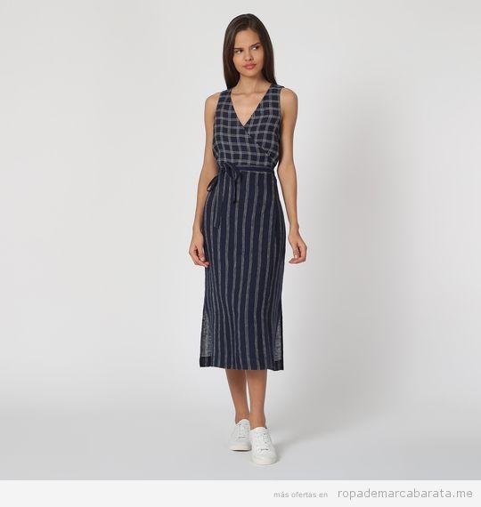 Vestido cuadros y rayas marca Nice Things barato
