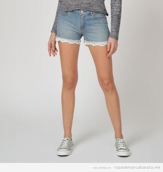 Shorts tejanos marca Springfield baratos, outlet