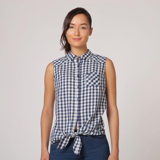 Camisa a cuadros marca Lois barata, outlet