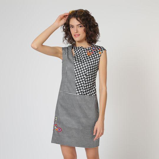 Vestido cuadros marca Desigual barato, outlet