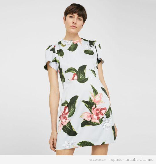 Vestido flores marca Mango de verano barato, outlet 2