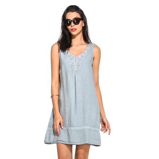 Vestido de lino barato 2