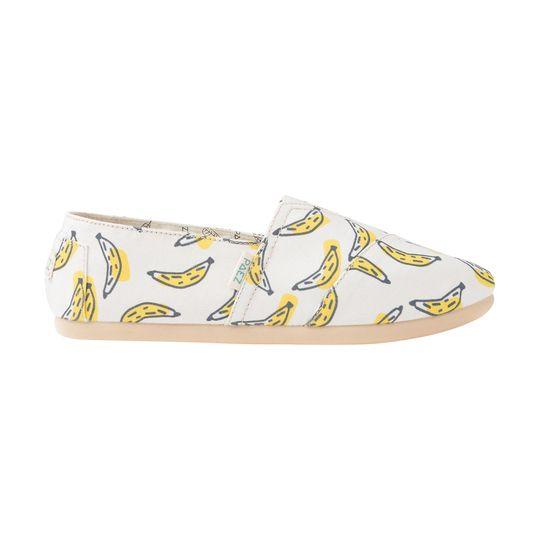 Alpargatas marca Paez baratas estampado plátanos